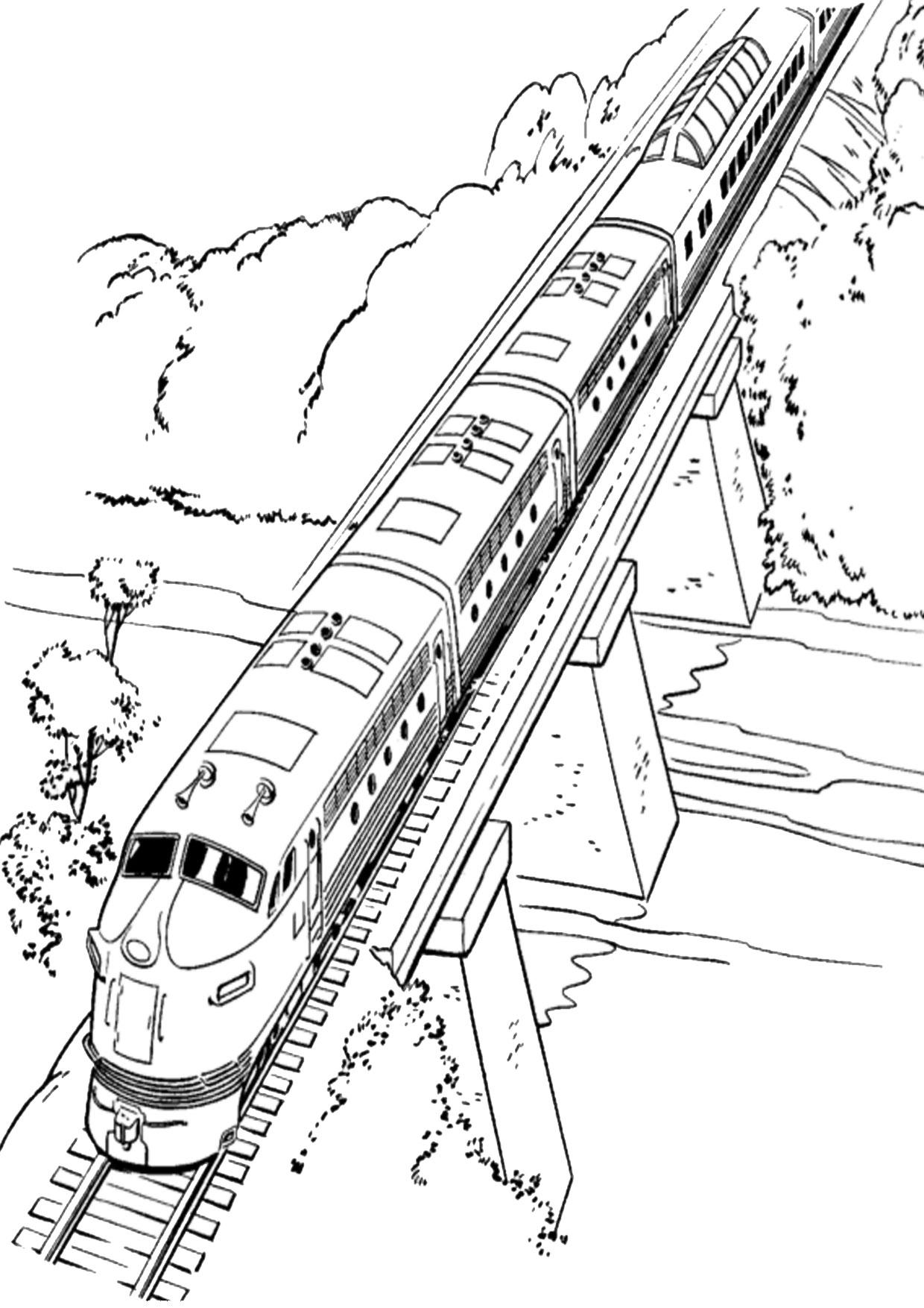 Disegno di treno da colorare 17