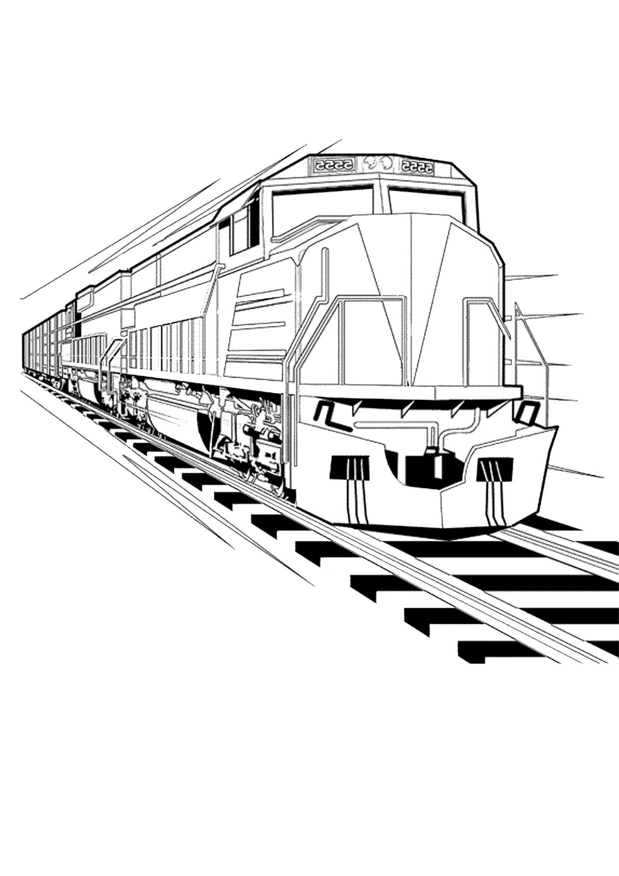 Disegno di treno da colorare 18