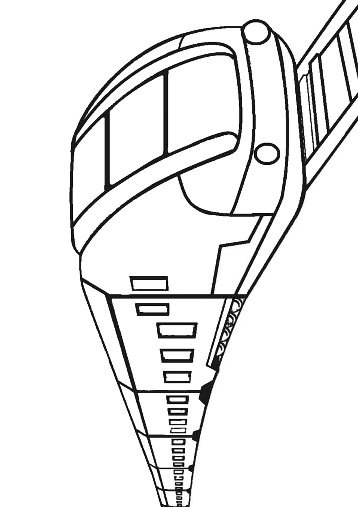 Disegno di treno da colorare 22
