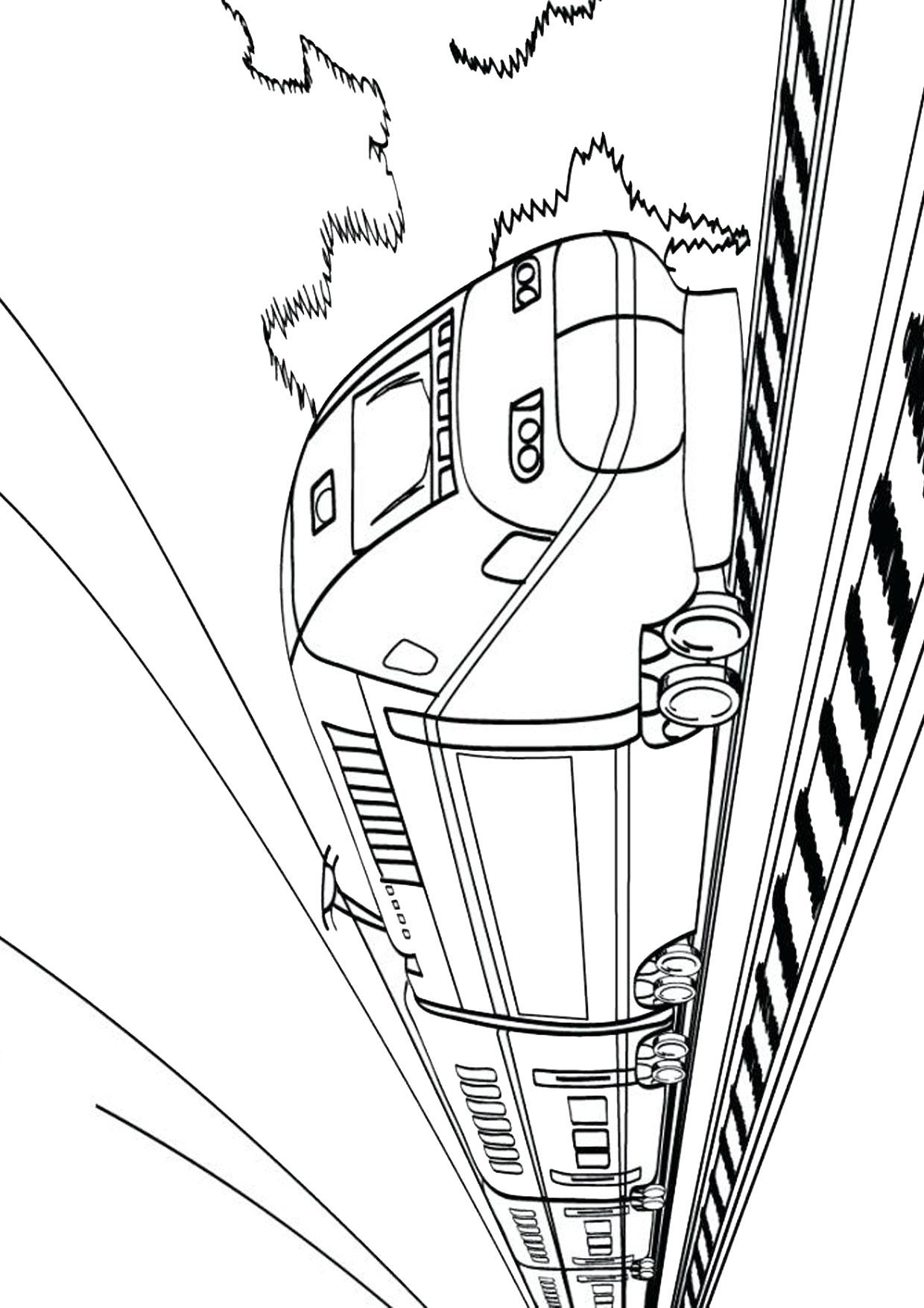 Disegno di treno da colorare 20