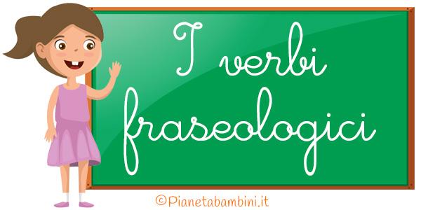 Schede didattiche sui verbi fraseologici per la scuola primaria da stampare gratis