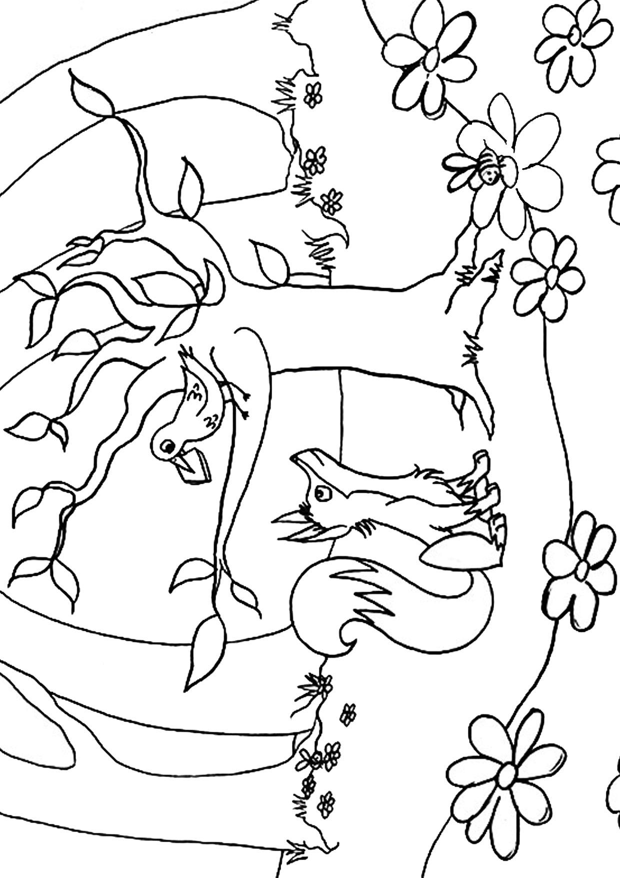Disegno di volpe cartoon da colorare 13
