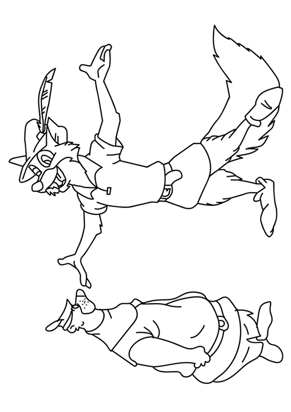 Disegno di volpe cartoon da colorare 15