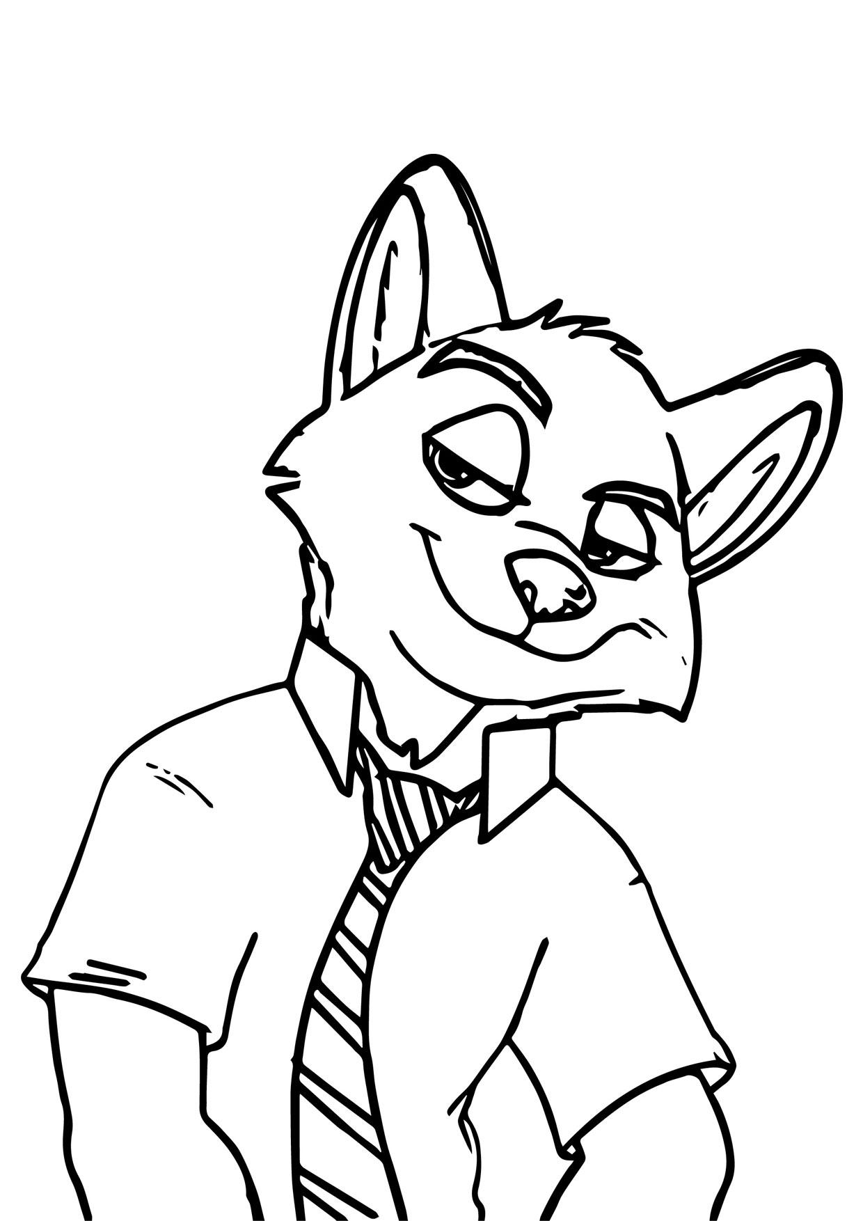 Disegno di volpe cartoon da colorare 19