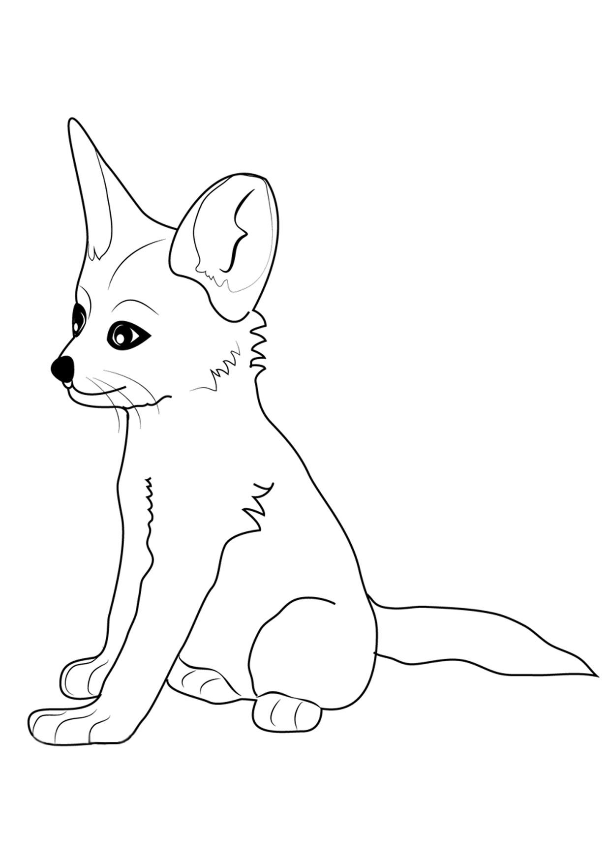 Disegno di volpe da colorare 13