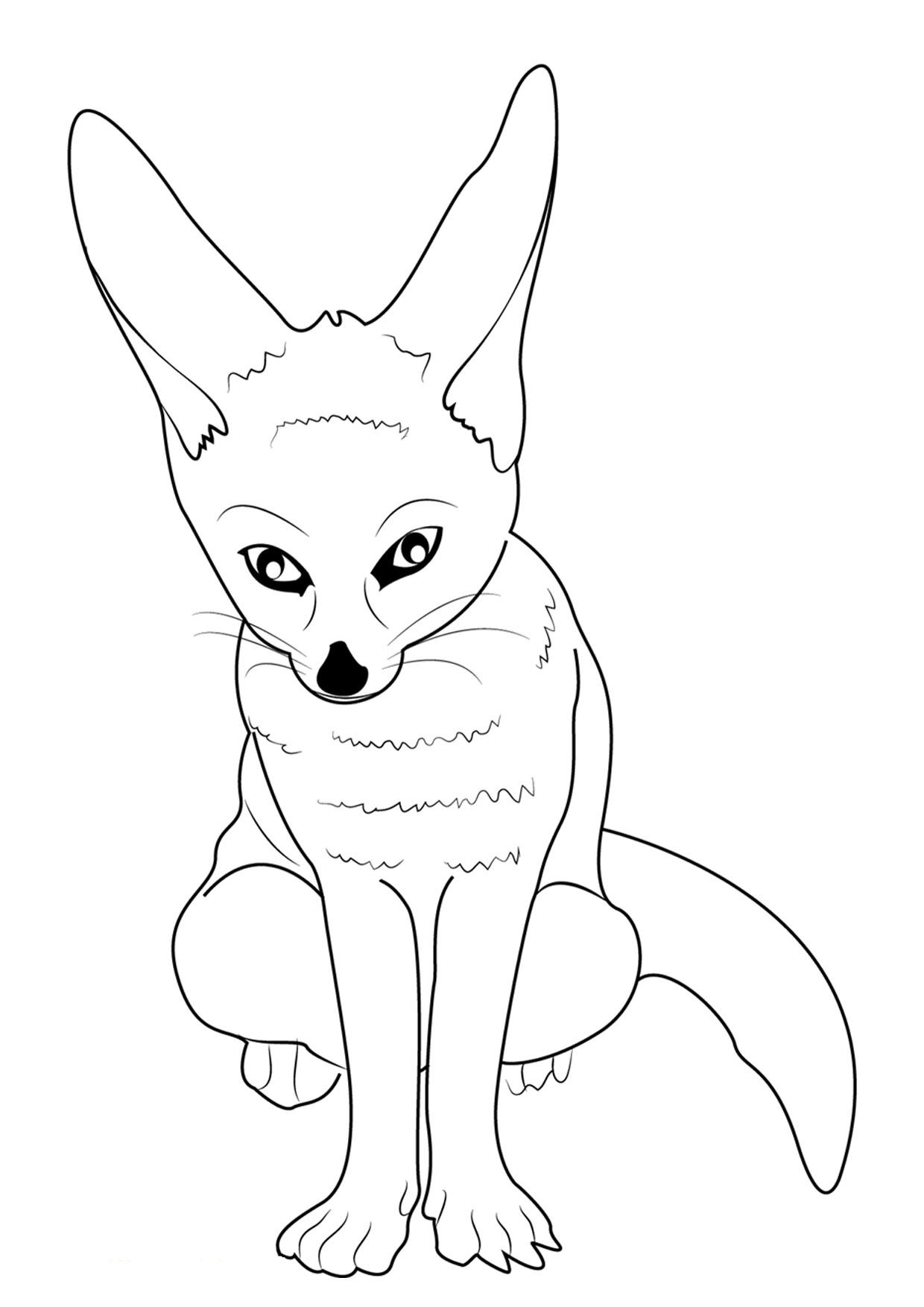 Disegno di volpe da colorare 17