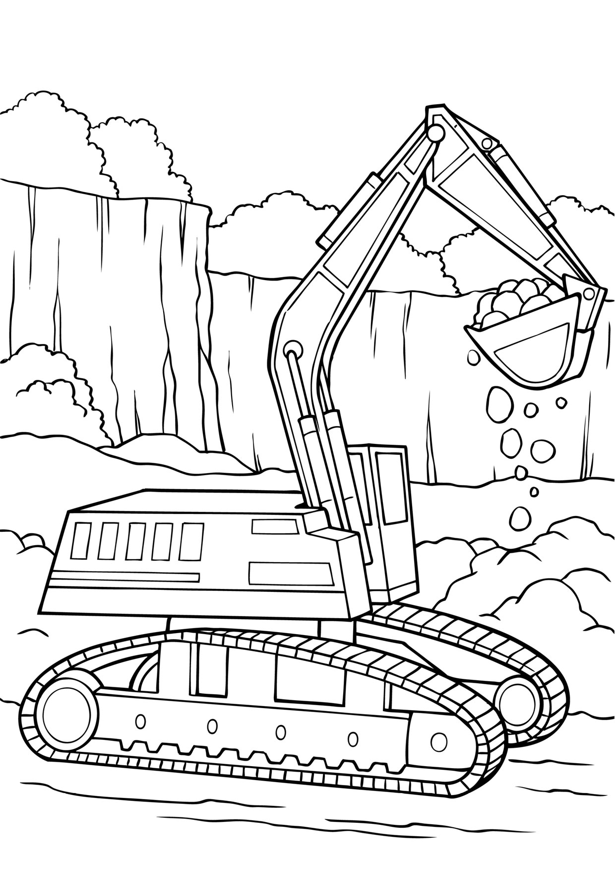 Disegni Da Colorare Per Bambini Escavatori.30 Disegni Di Escavatori Da Colorare Pianetabambini It