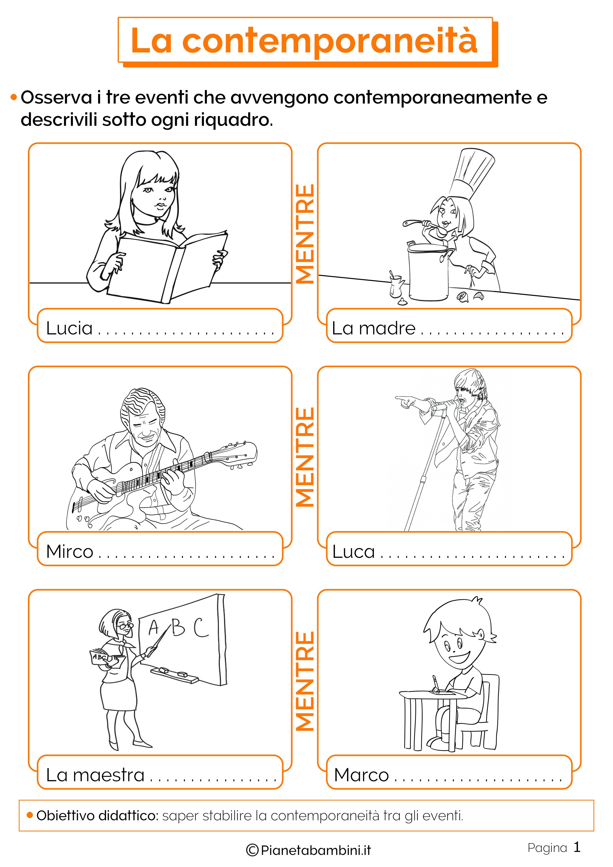 Esercizi sulla contemporaneita 1