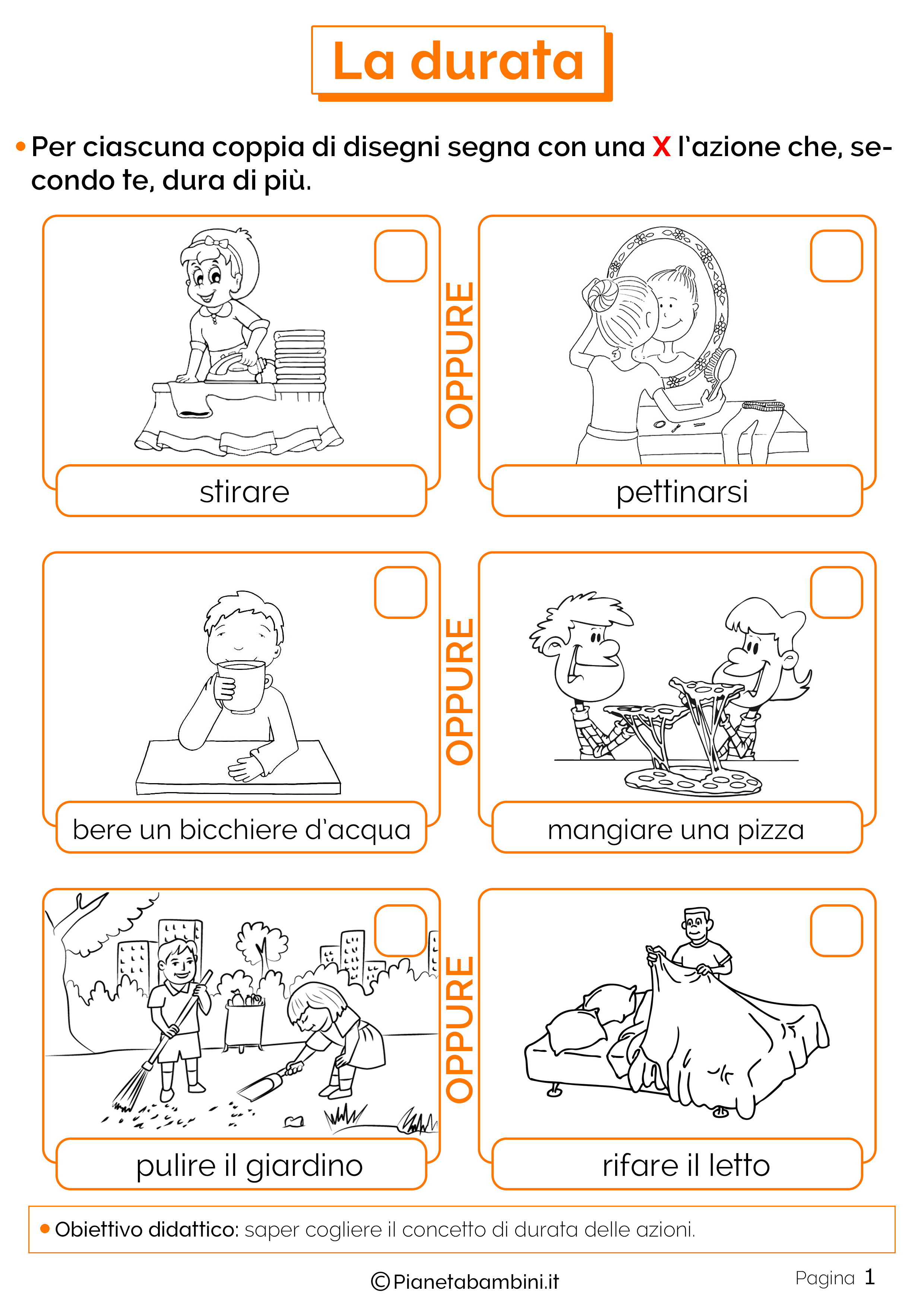 Esercizi sulla durata del tempo 1