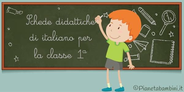 Esercizi sul programma completo di italiano della classe prima della scuola primaria
