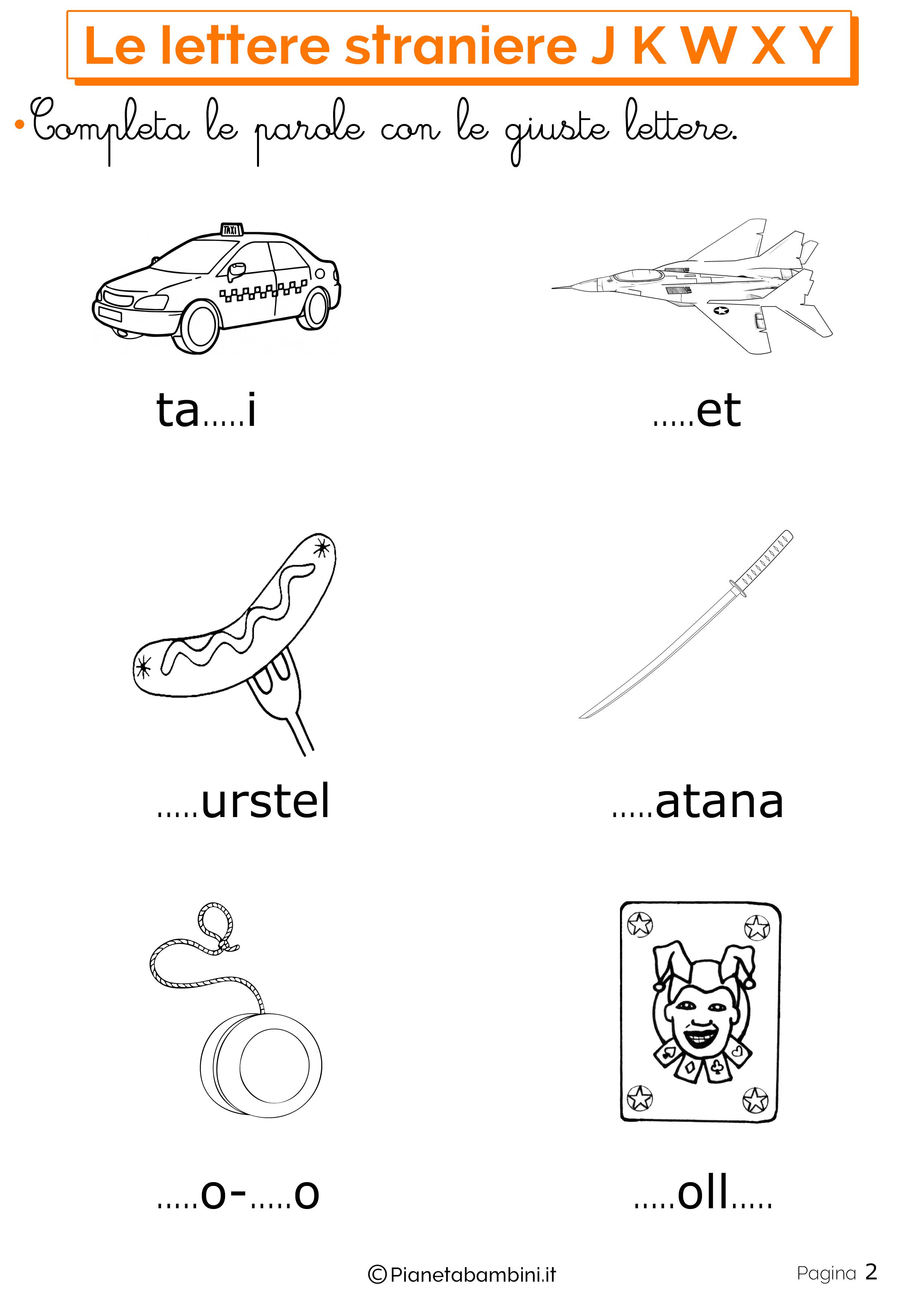 Esercizi sulle lettere straniere 2
