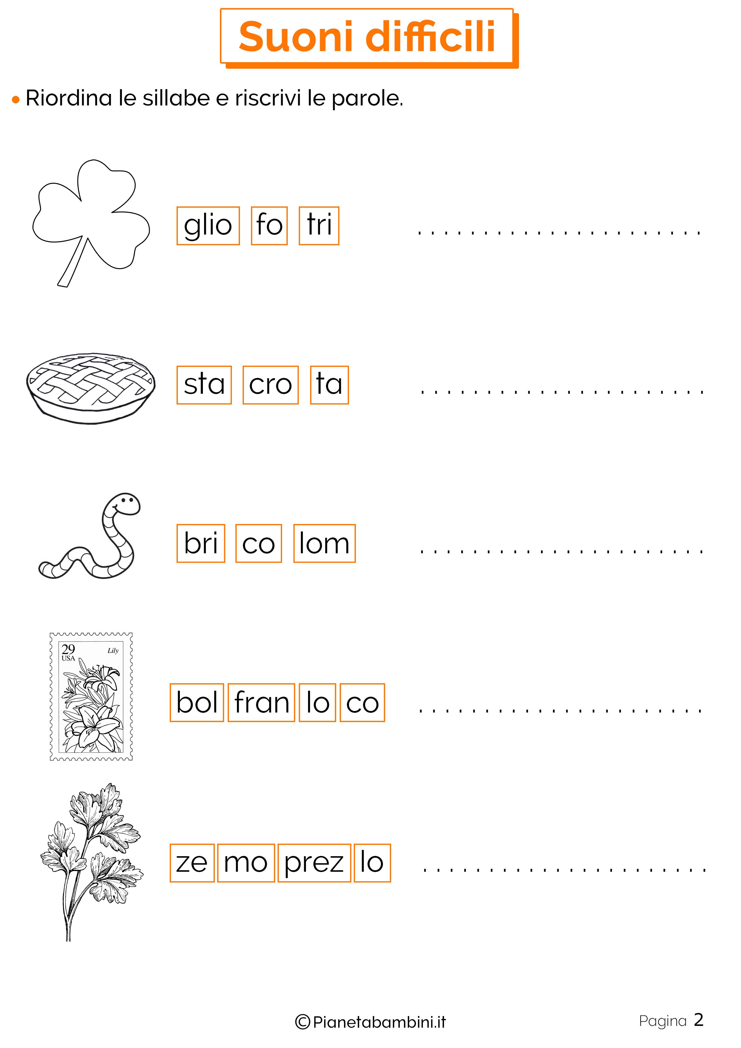 Esercizi sui suoni difficili 2