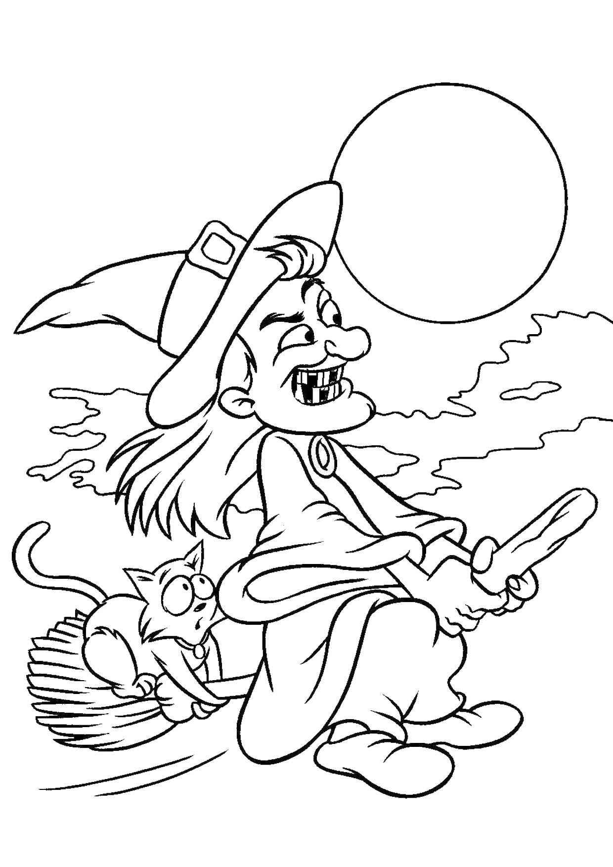 Disegno di strega da colorare 13