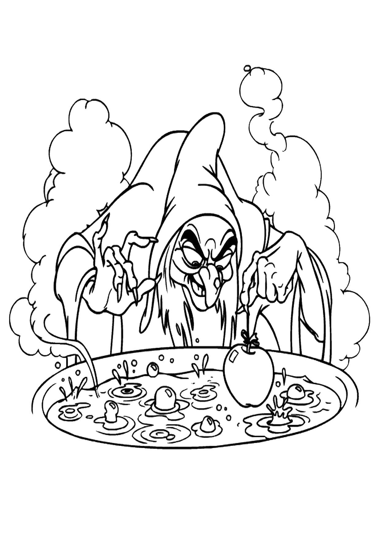 Disegno di strega da colorare 28
