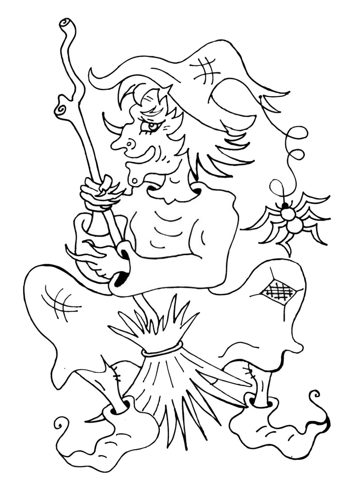Disegno di strega da colorare 30