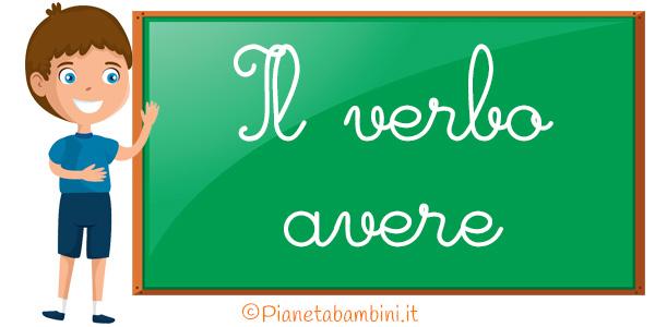 Schede didattiche sul verbo avere per la scuola primaria da stampare gratis