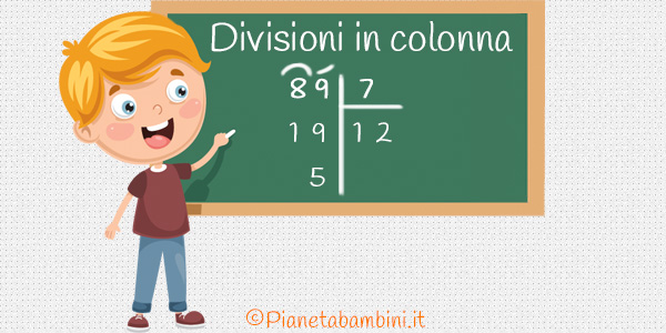 Divisioni in colonna per la scuola primaria