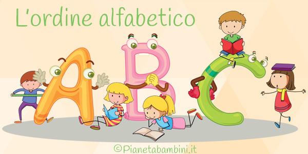 Esercizi sull'ordine alfabetico per la scuola primaria