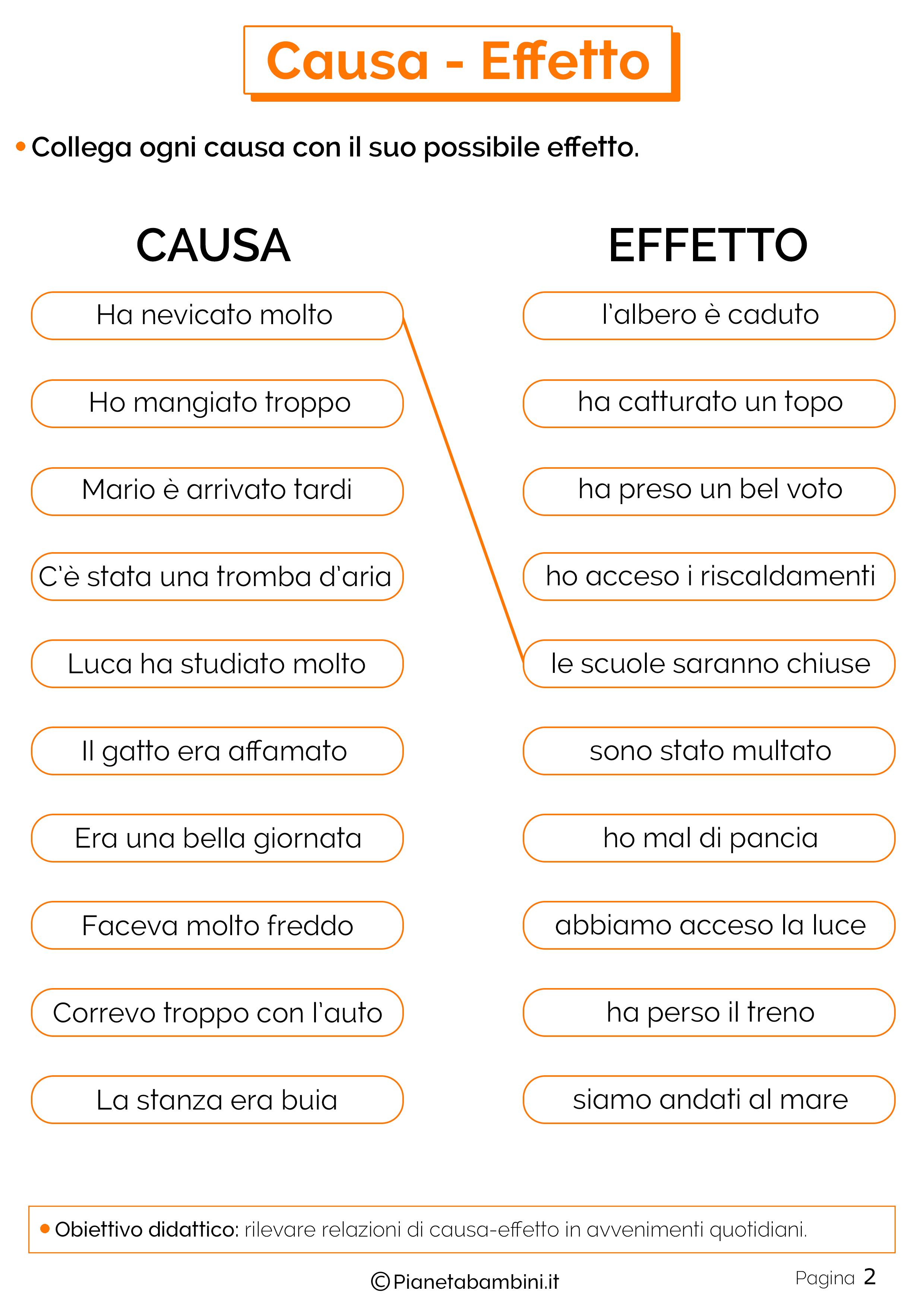 Esercizi su causa-effetto 2