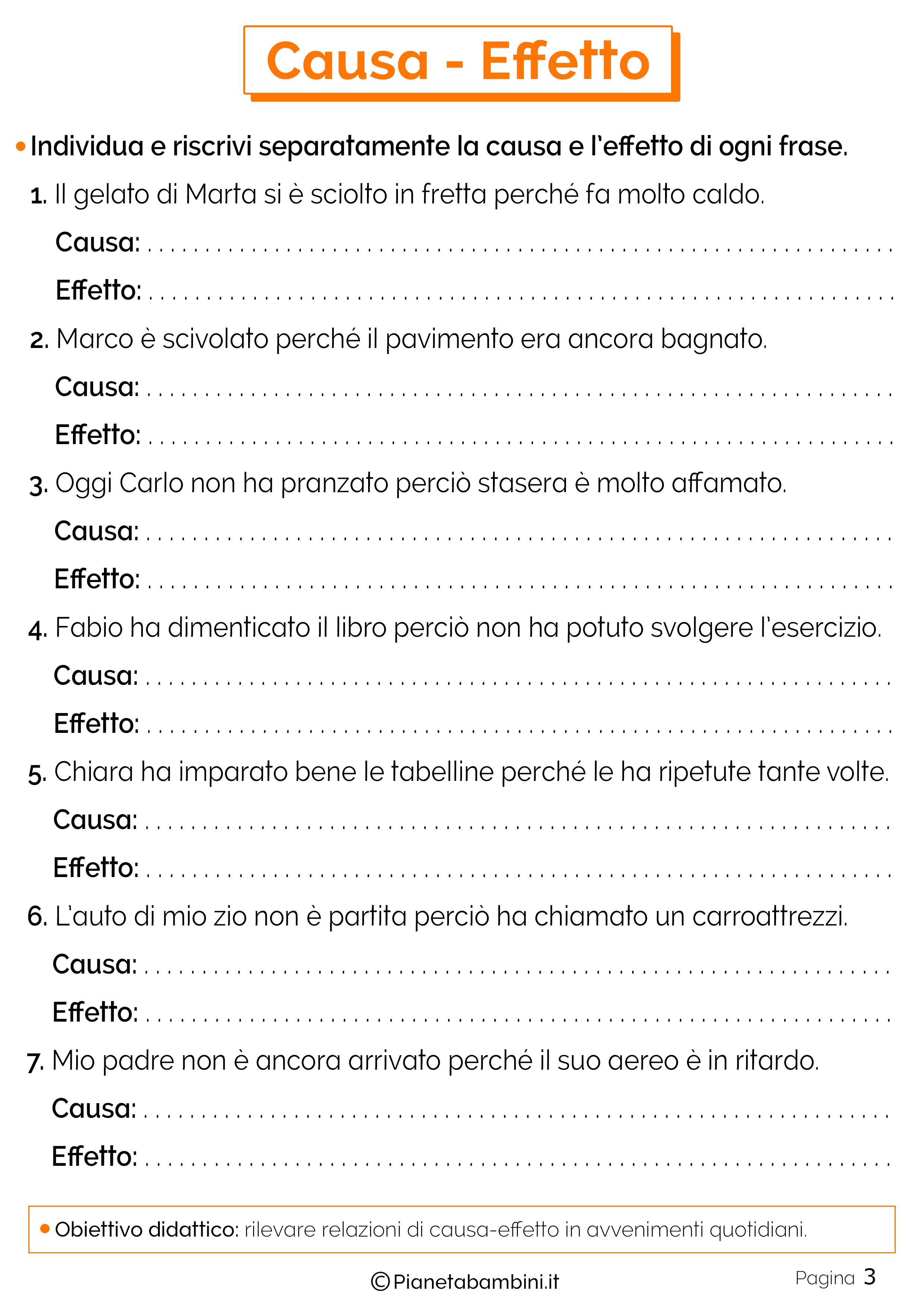 Esercizi su causa-effetto 3