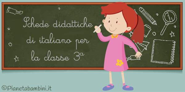 Esercizi di italiano per la classe terza da stampare gratis