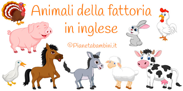Esercizi sugli animali della fattoria in inglese per la scuola primaria
