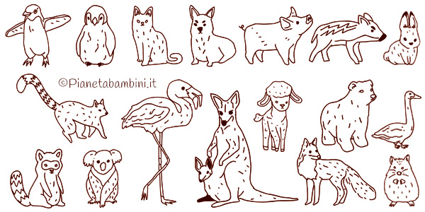 566 Disegni Di Animali Da Colorare Pianetabambini It