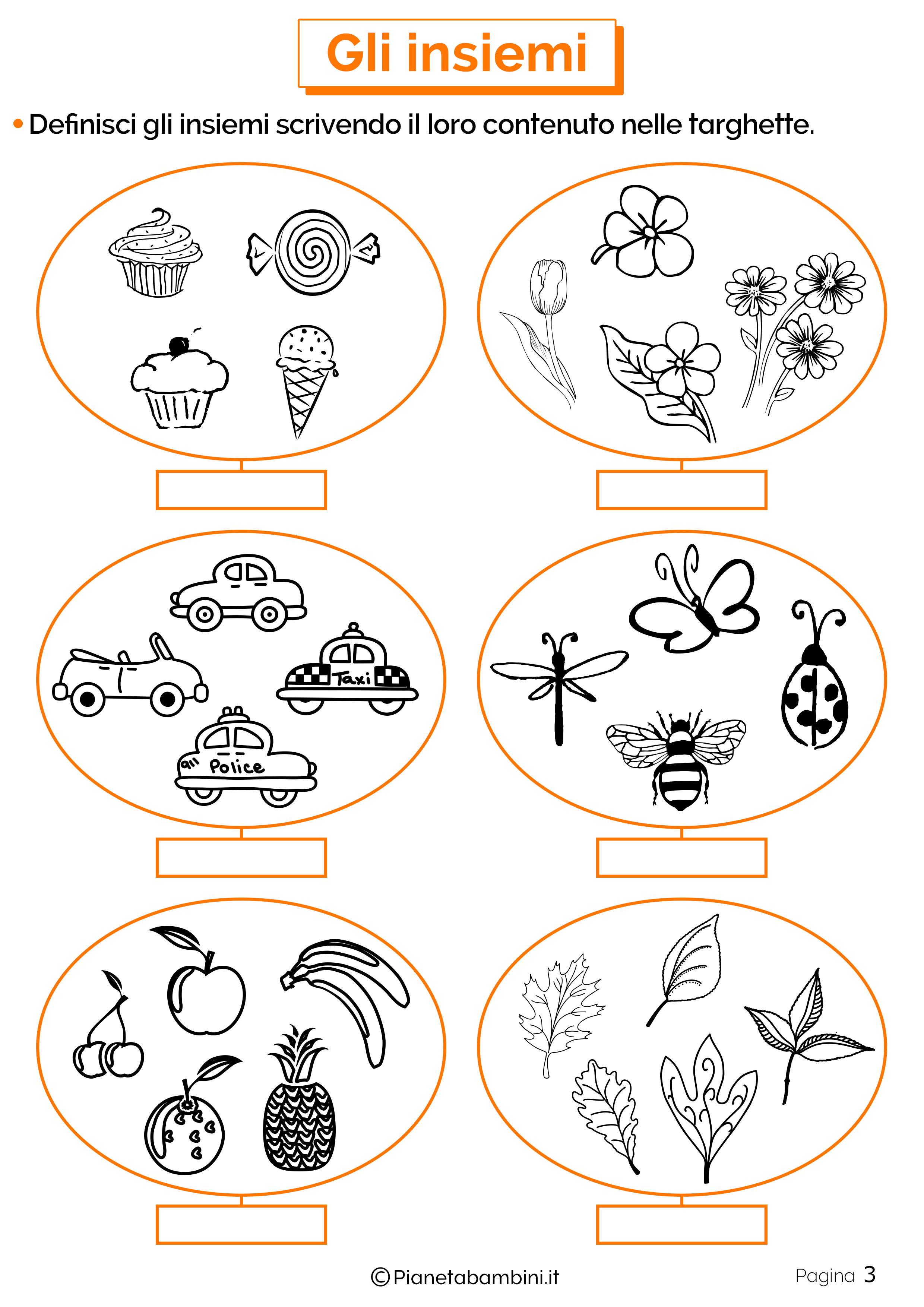Schede didattiche sugli insiemi 3
