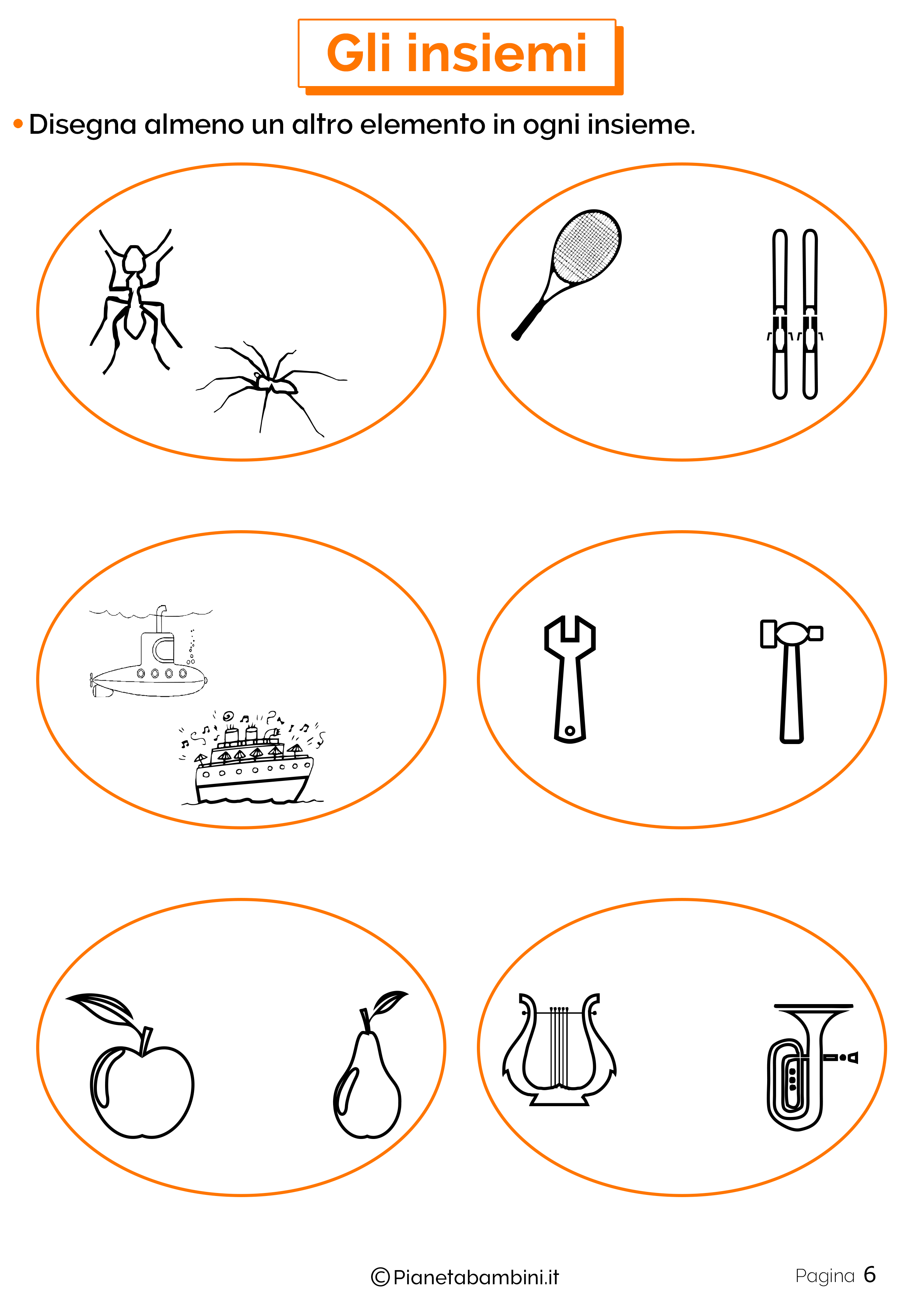 Schede didattiche sugli insiemi 6