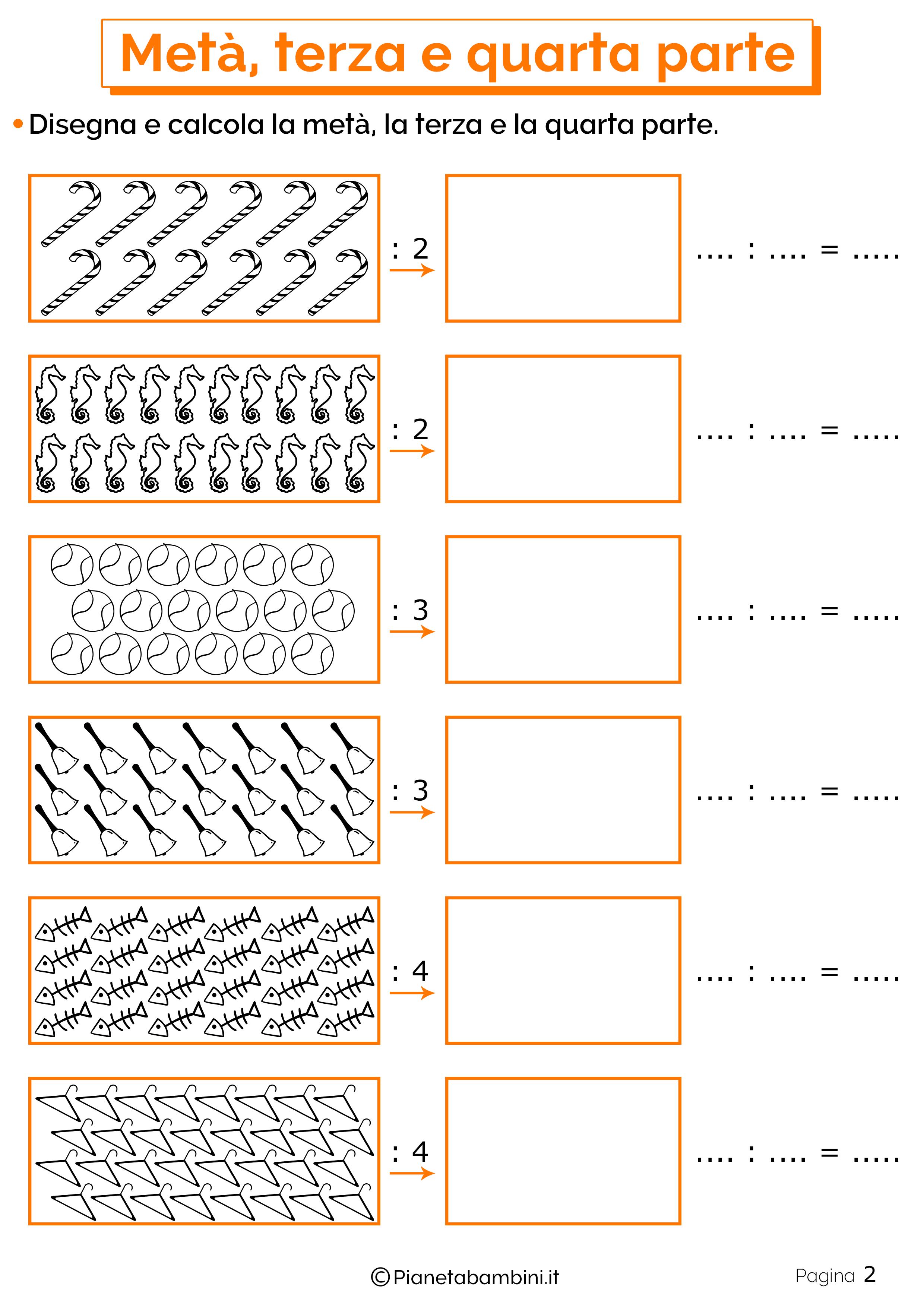Schede didattichei su metà, terza e quarta parte 2