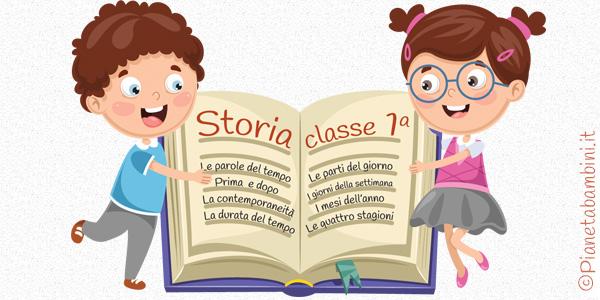 Schede didattiche ed esercizi sul programma completo di storia per la classe prima