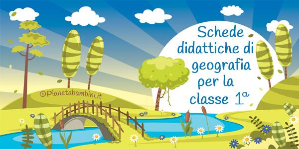Esercizi di geografia per la prima classe primaria