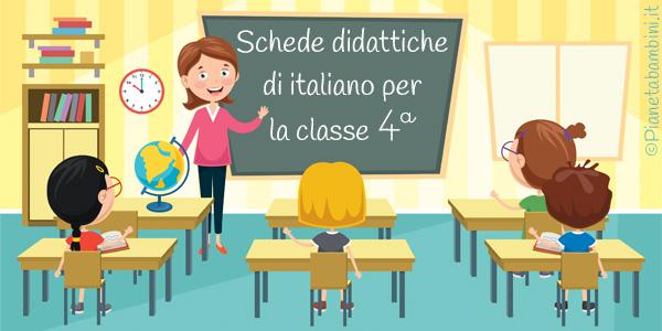 Esercizi sul programma completo di italiano per la classe quarta primaria