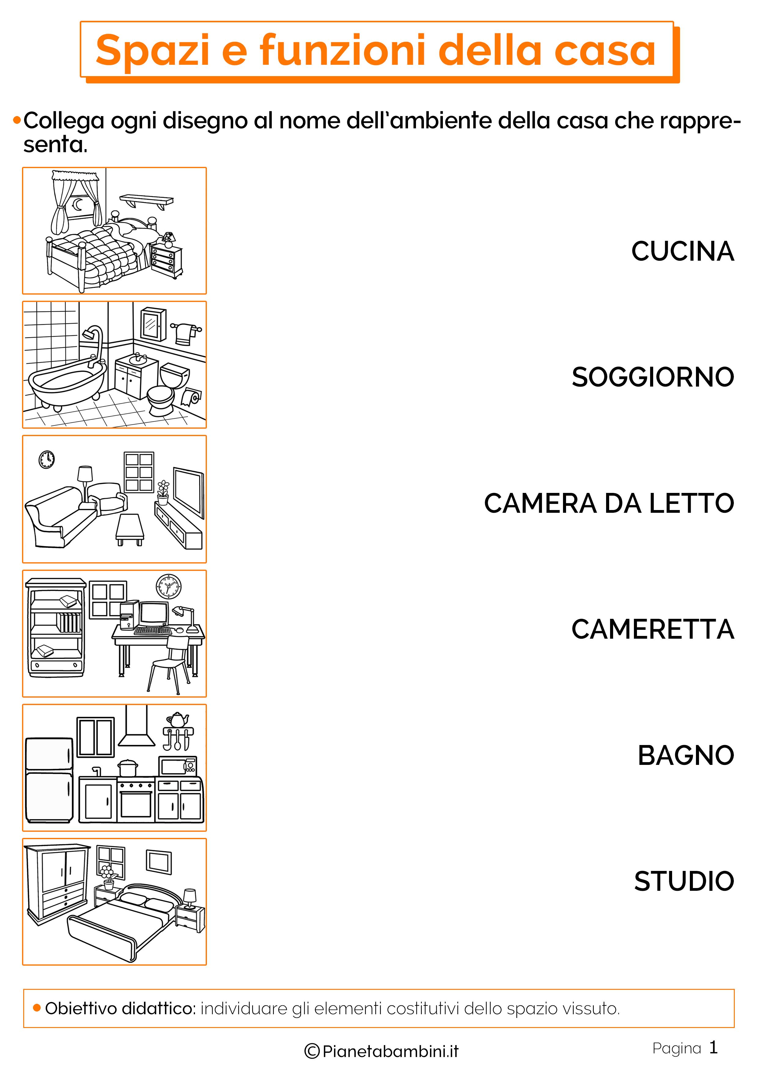 Esercizi su spazi e funzioni della casa 1