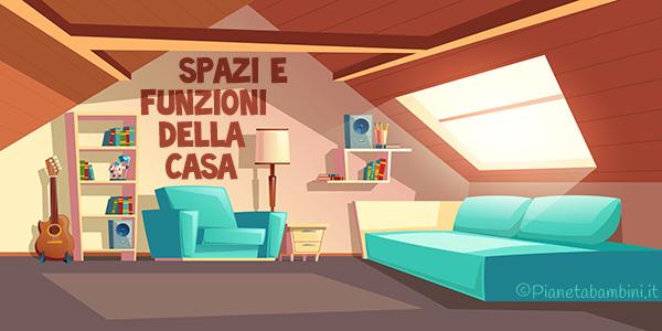 Esercizi su spazi e funzioni della casa per bambini