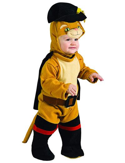 Vestito di Carnevale da gatto con gli stivali per neonati