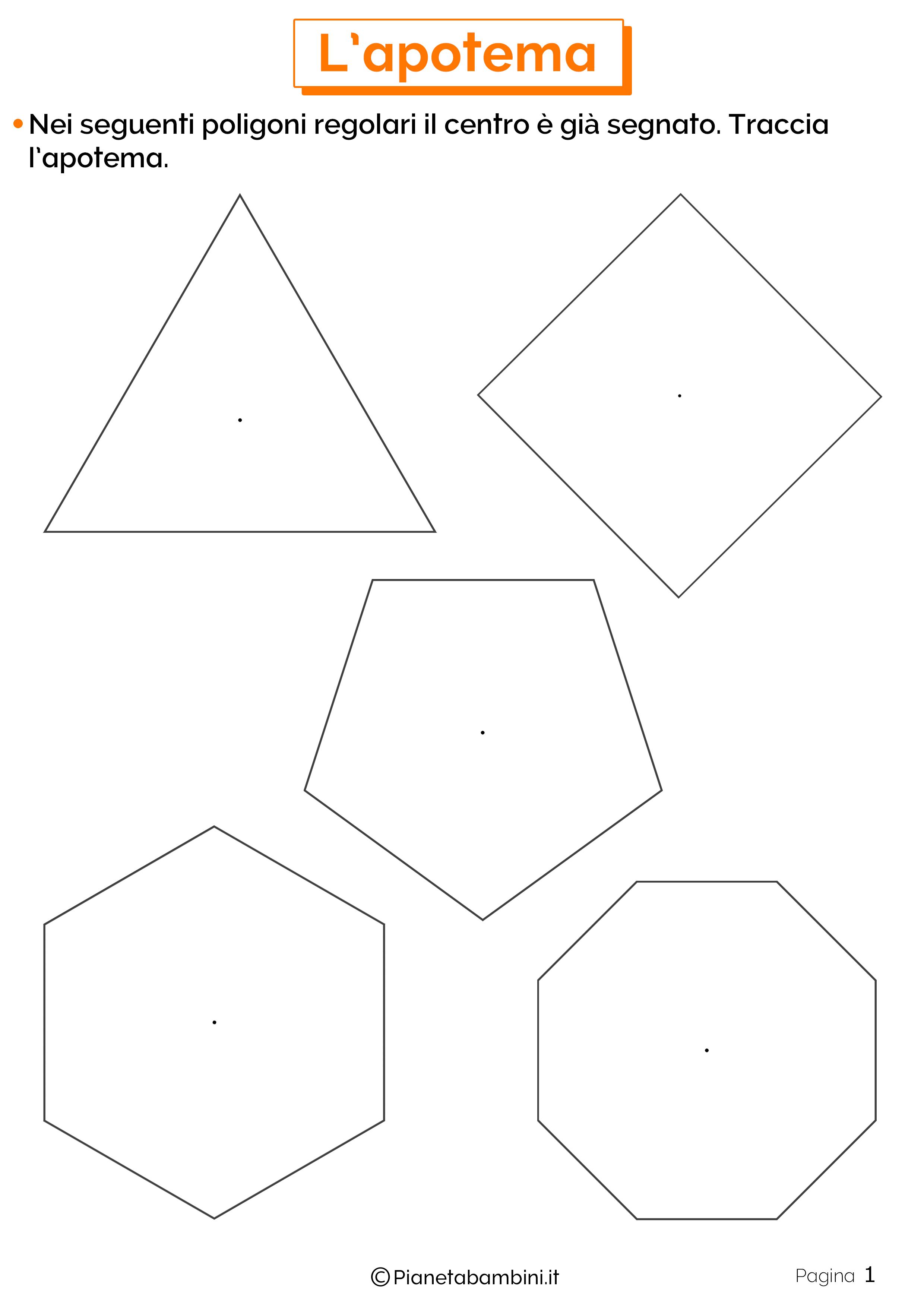 Schede didattiche sull'apotema 1