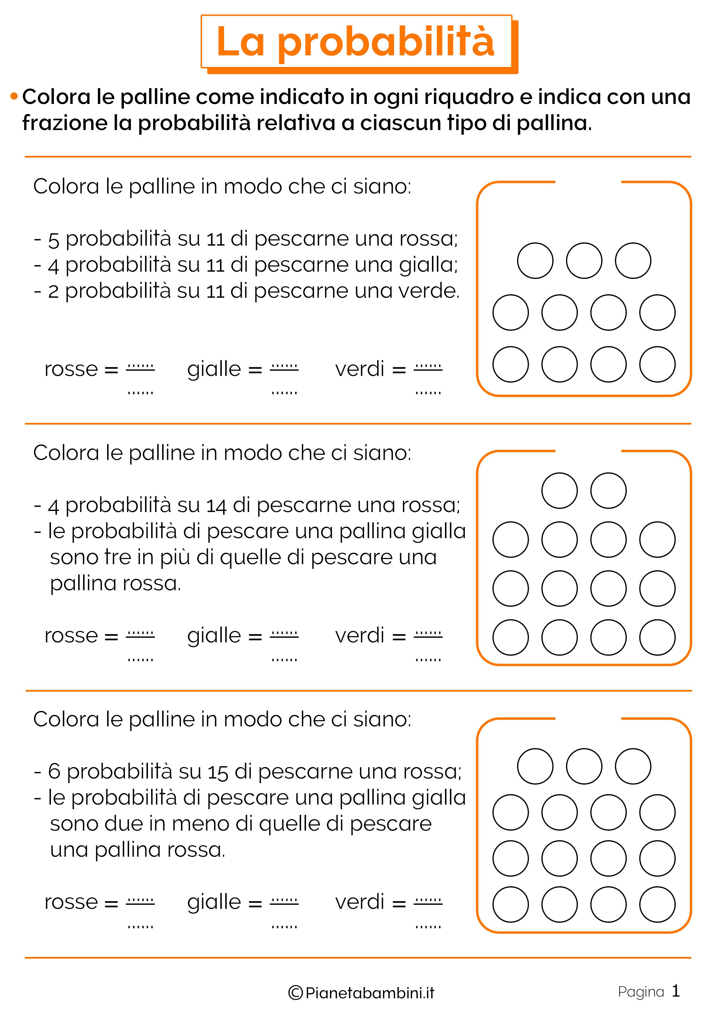 Schede didattiche sulla Probabilita 1