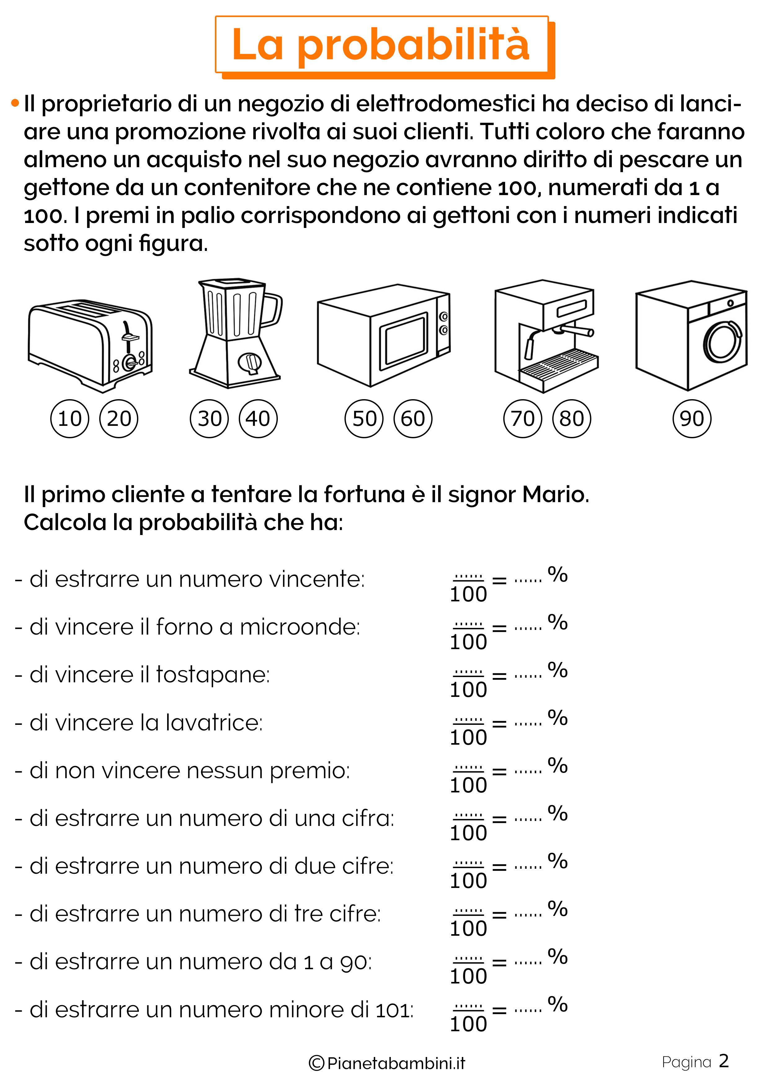 Schede didattiche sulla Probabilita 2