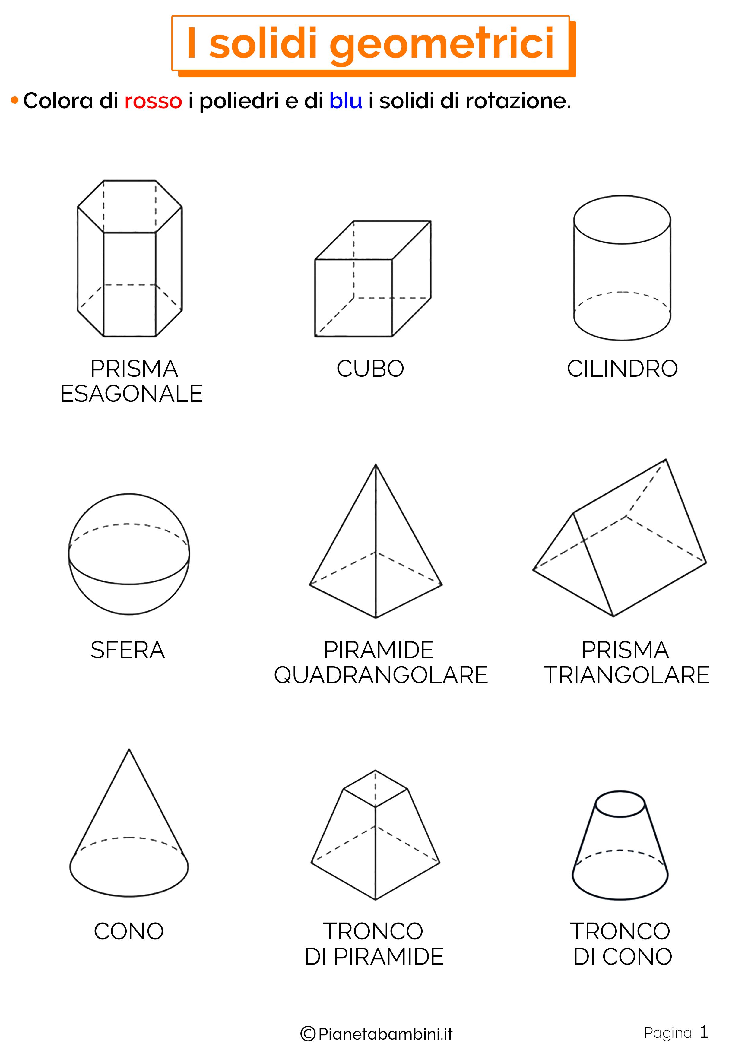 Schede didattiche sui solidi geometrici 1