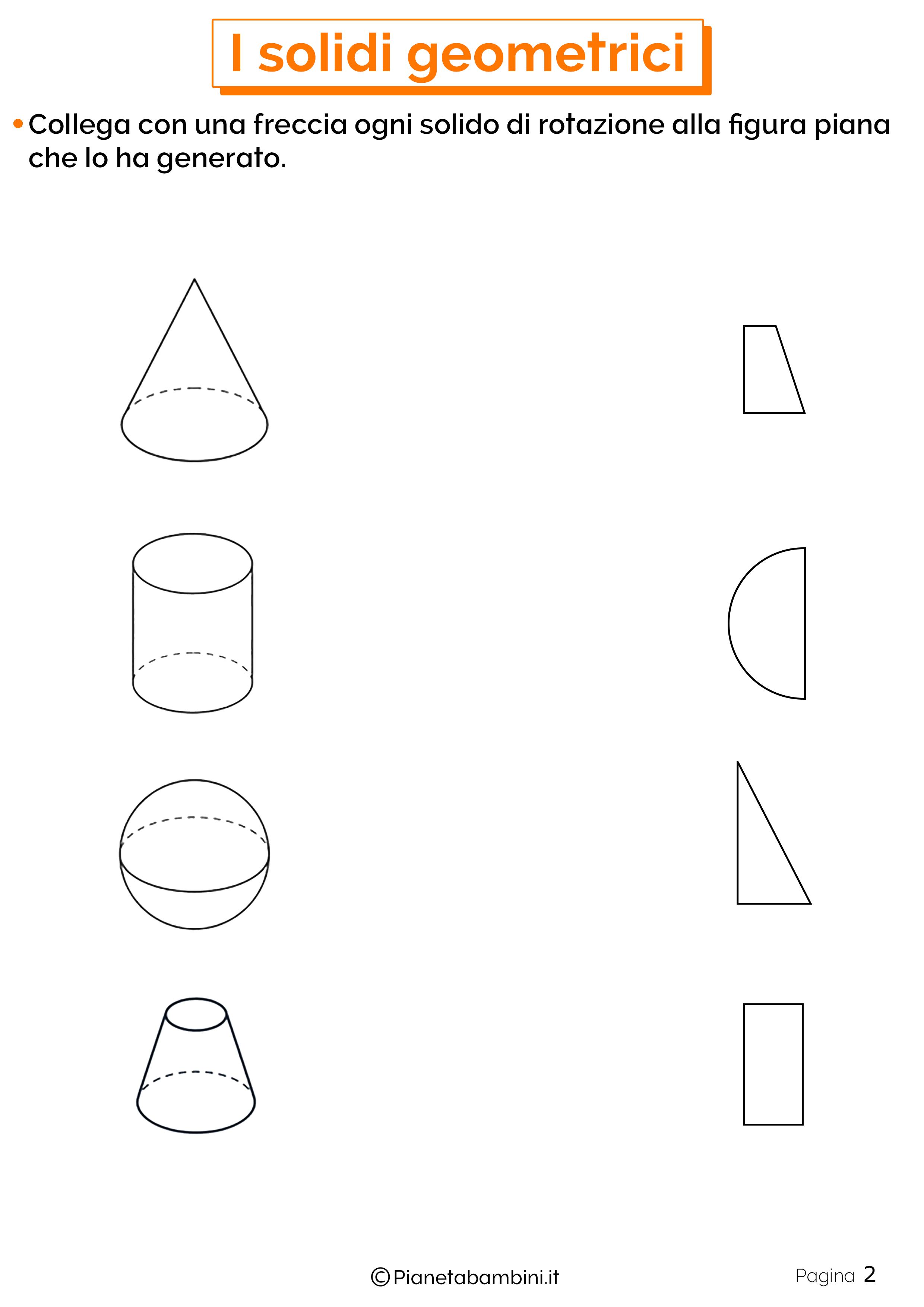 Schede didattiche sui solidi geometrici 2