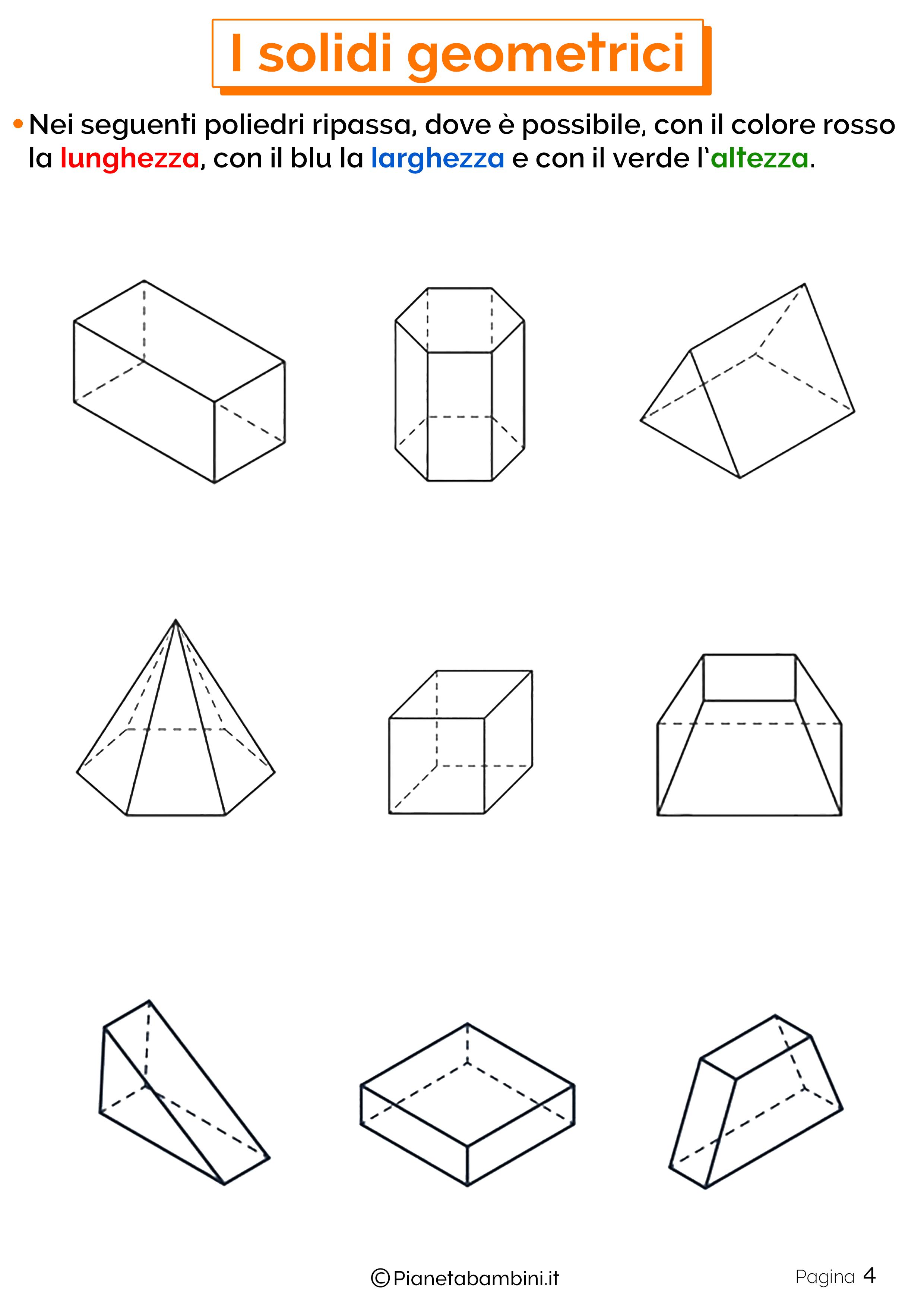 Schede didattiche sui solidi geometrici 4