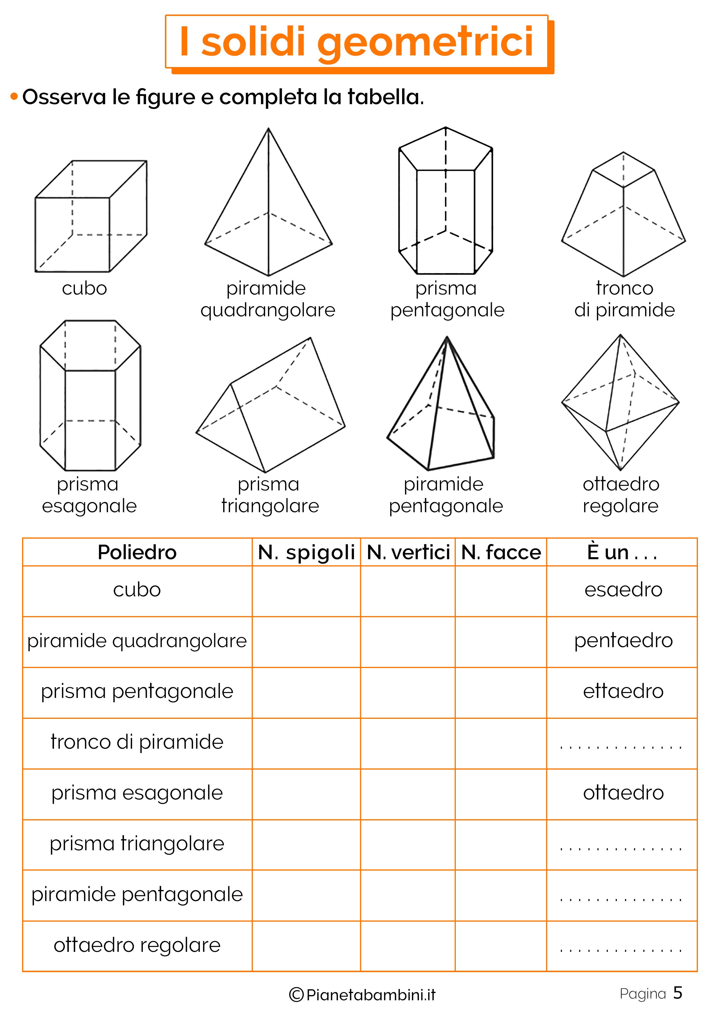 Schede didattiche sui solidi geometrici 5