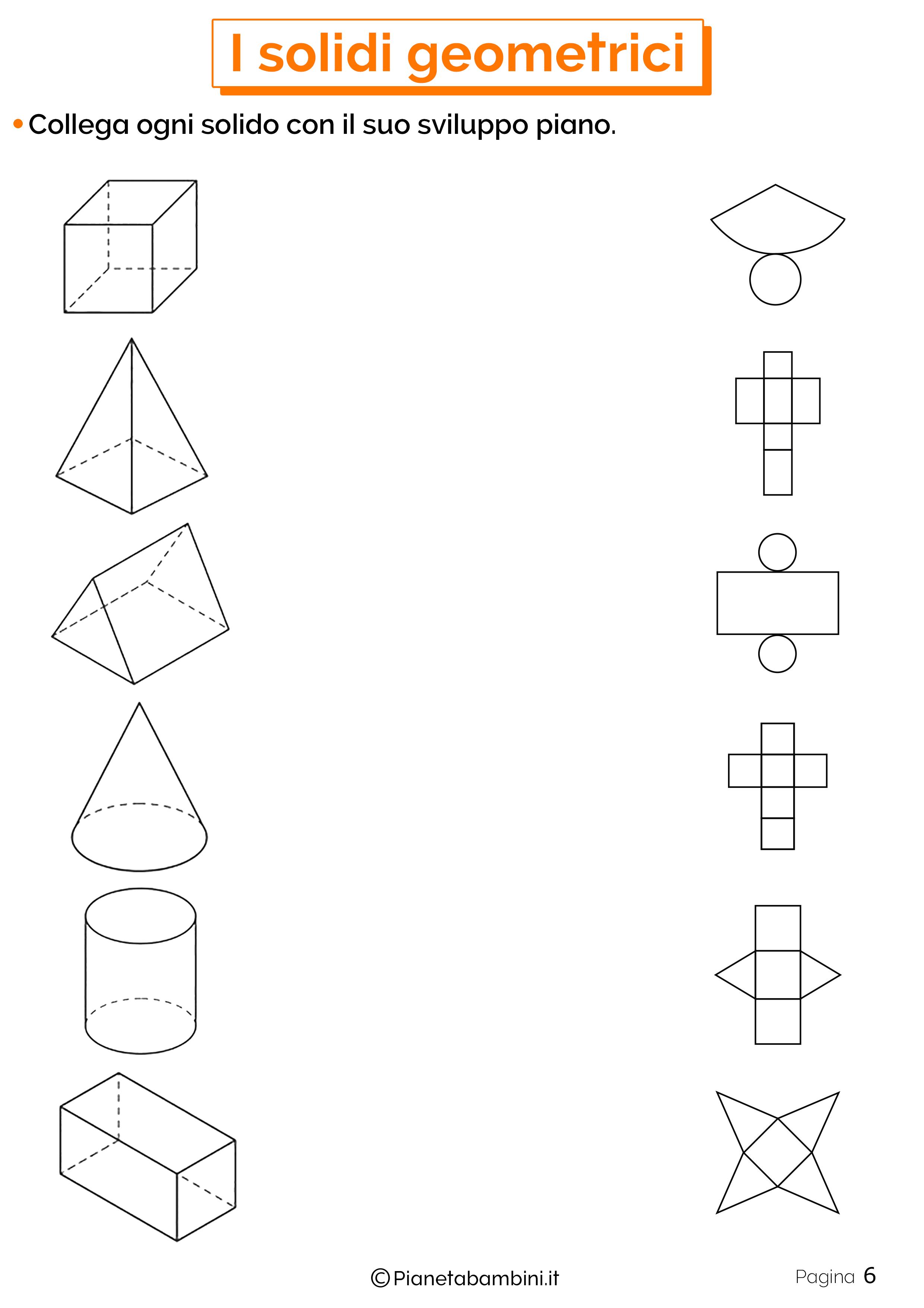 Schede didattiche sui solidi geometrici 6