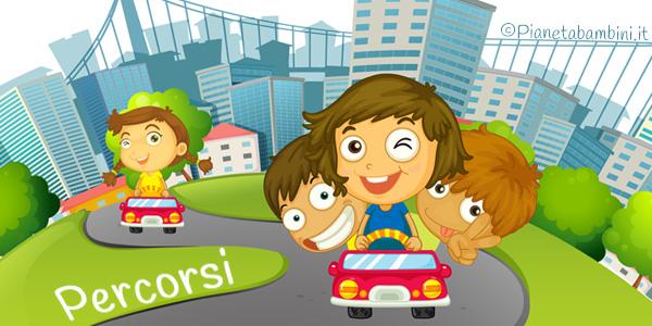 Esercizi sui percorsi geografici per bambini