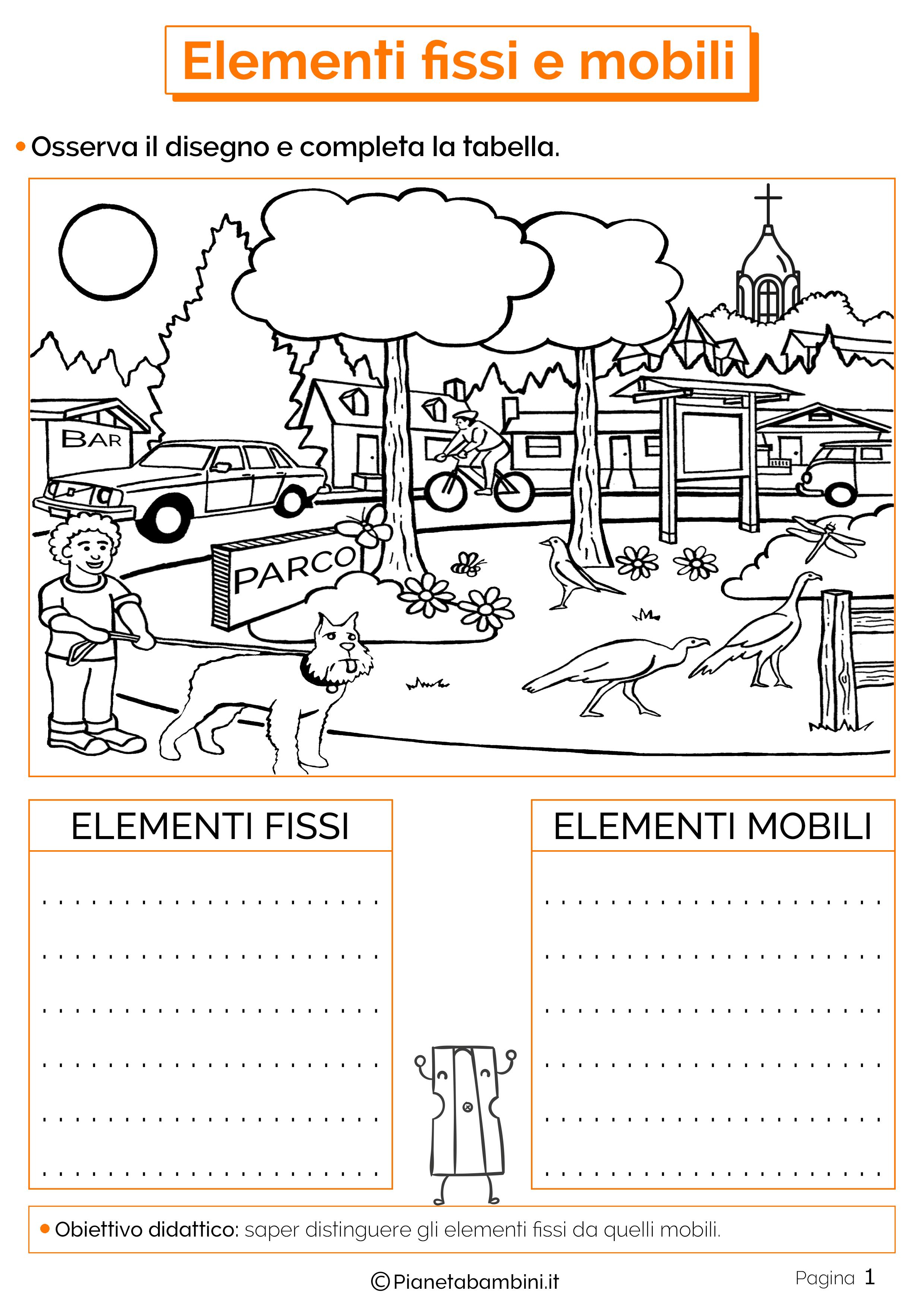 Esercizi sugli elementi fissi e mobili 1