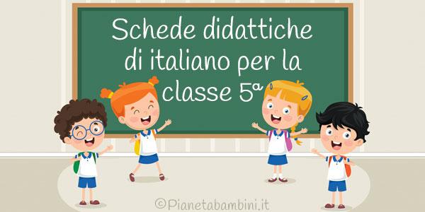 Esercizi di italiano per la quinta classe della scuola primaria