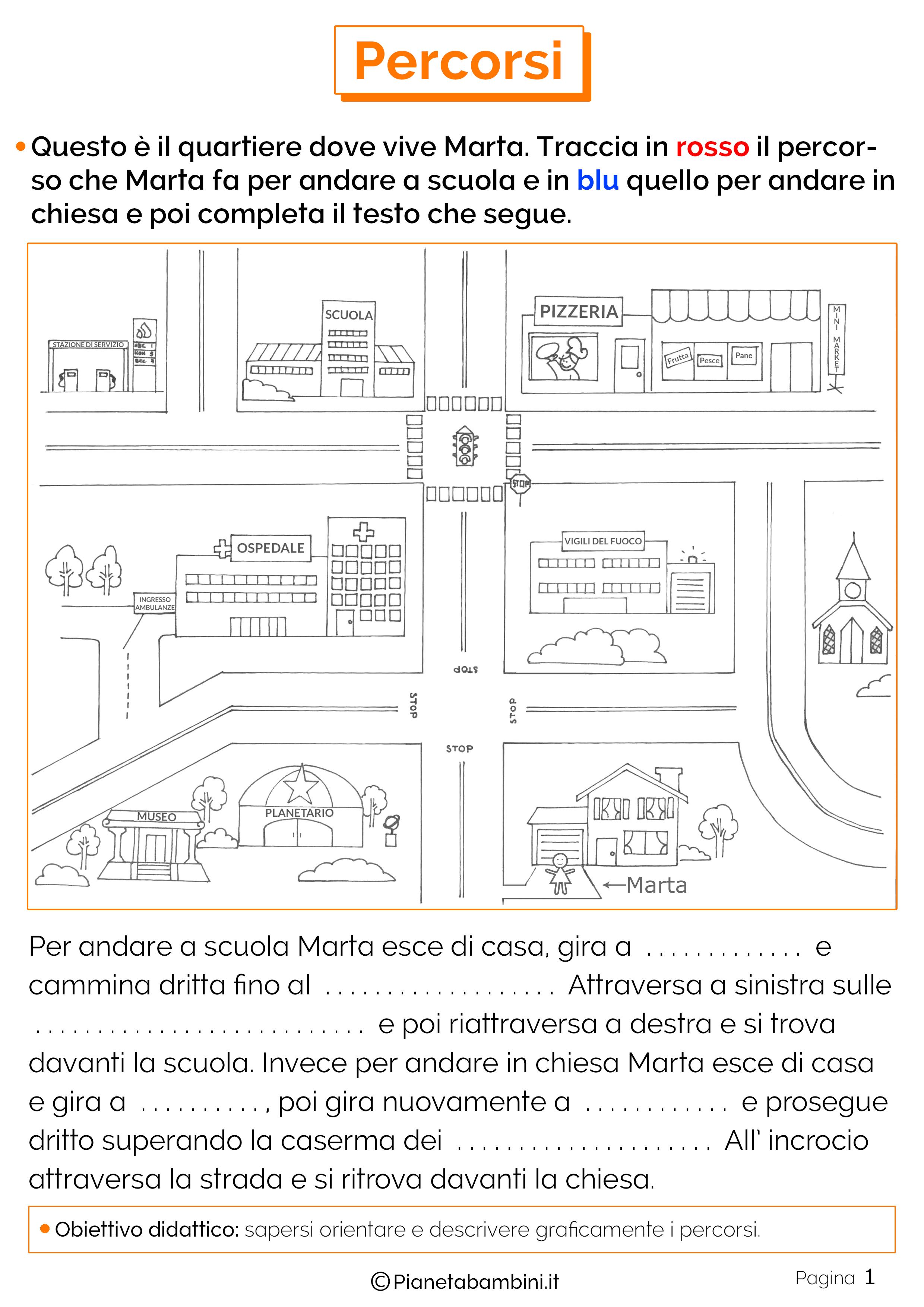 Esercizi sui percorsi 1