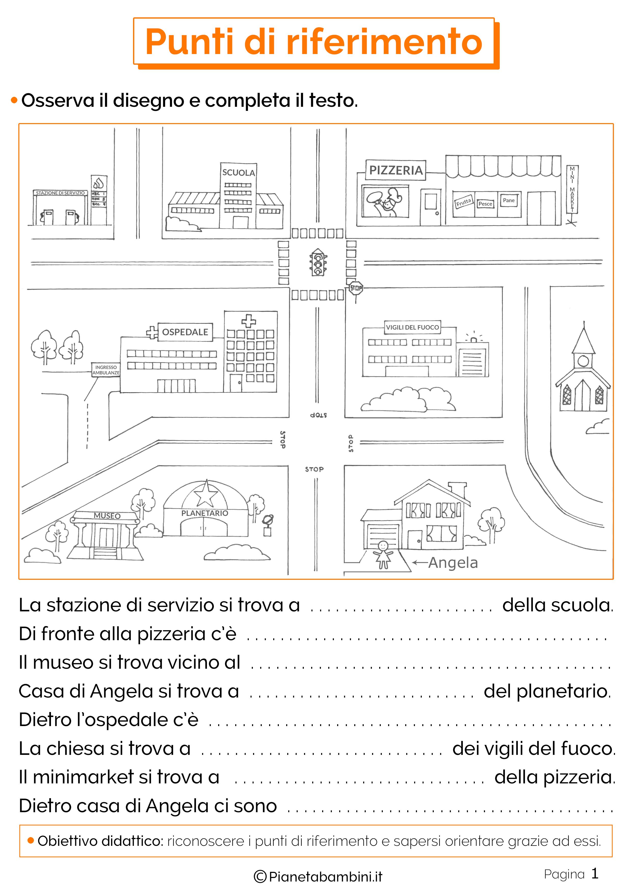 Esercizi sui punti di riferimento 1
