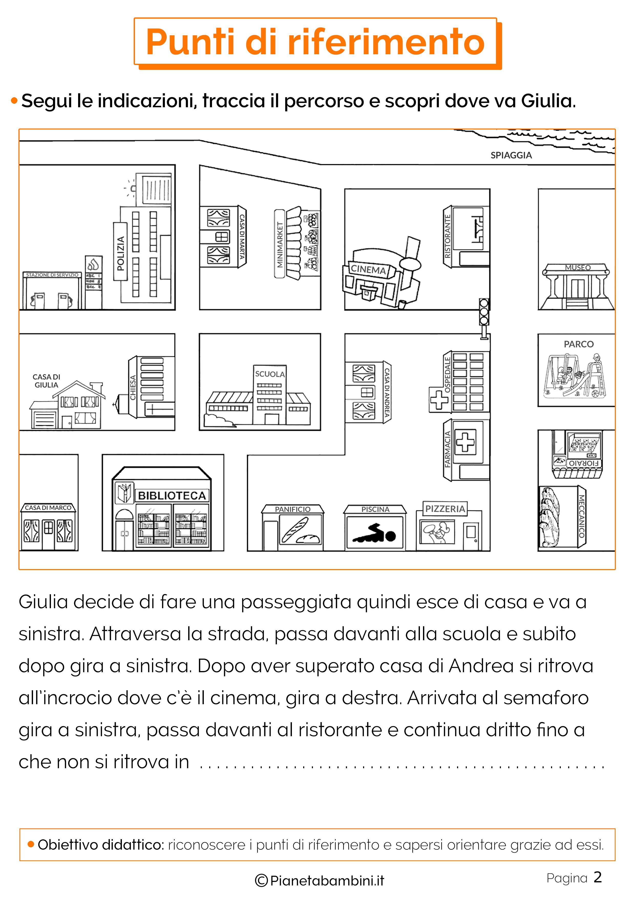 Esercizi sui punti di riferimento 2